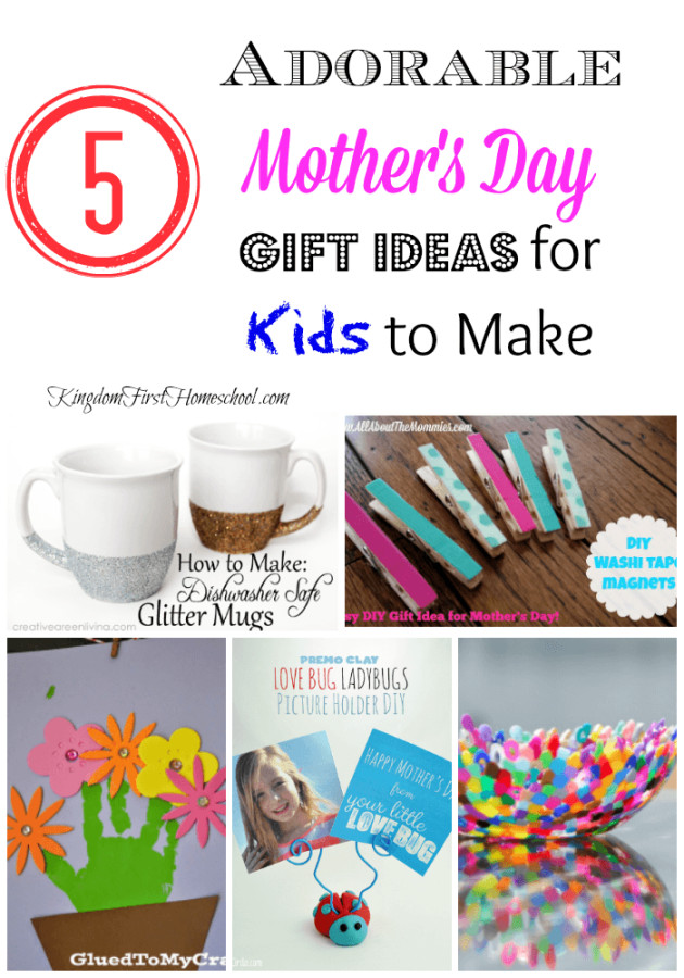 Mother'S Day Gift Ideas For Toddlers To Make  5 Adorable Mother s Day Gift Ideas for Kids to Make