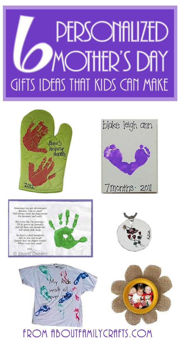 Mother'S Day Gift Ideas For Toddlers To Make  6 Mother's Day Gifts Ideas for Kids to Make