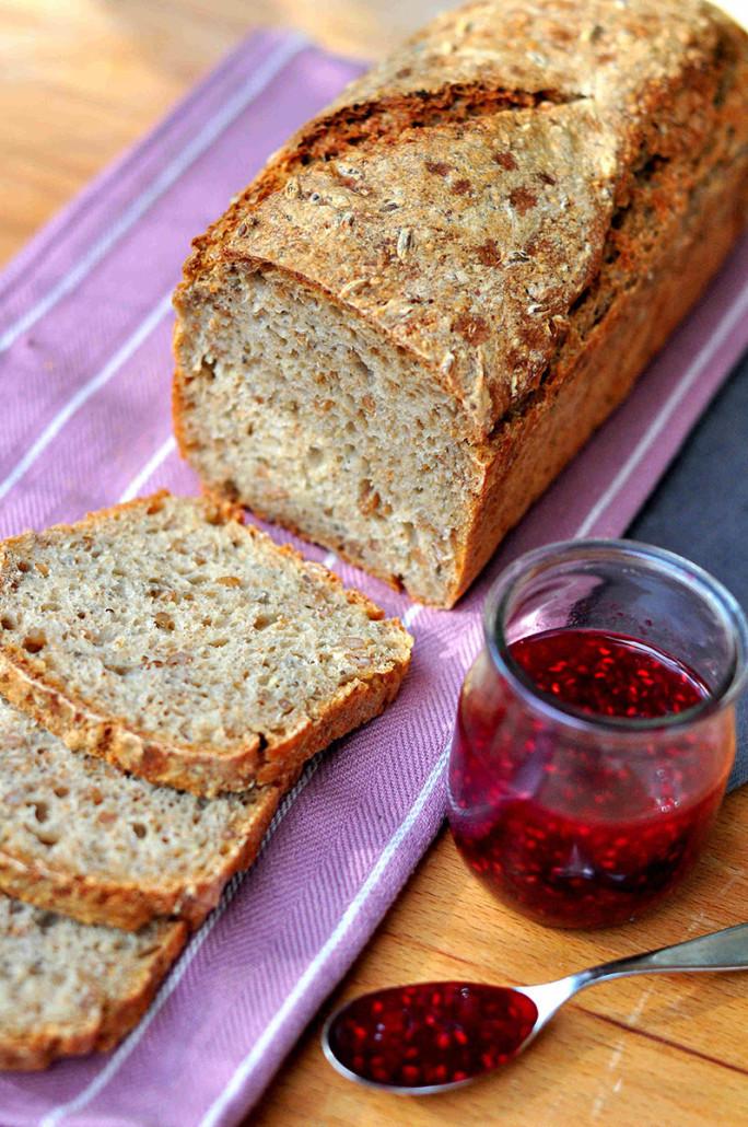Multigrain Sourdough Bread  Bread for Breakfast Easy Multigrain Sourdough Bread and