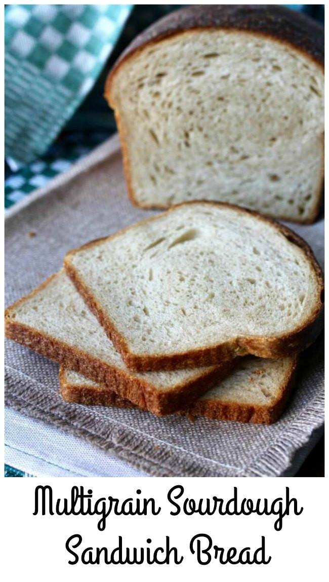 Multigrain Sourdough Bread  Multigrain Sourdough Sandwich Bread
