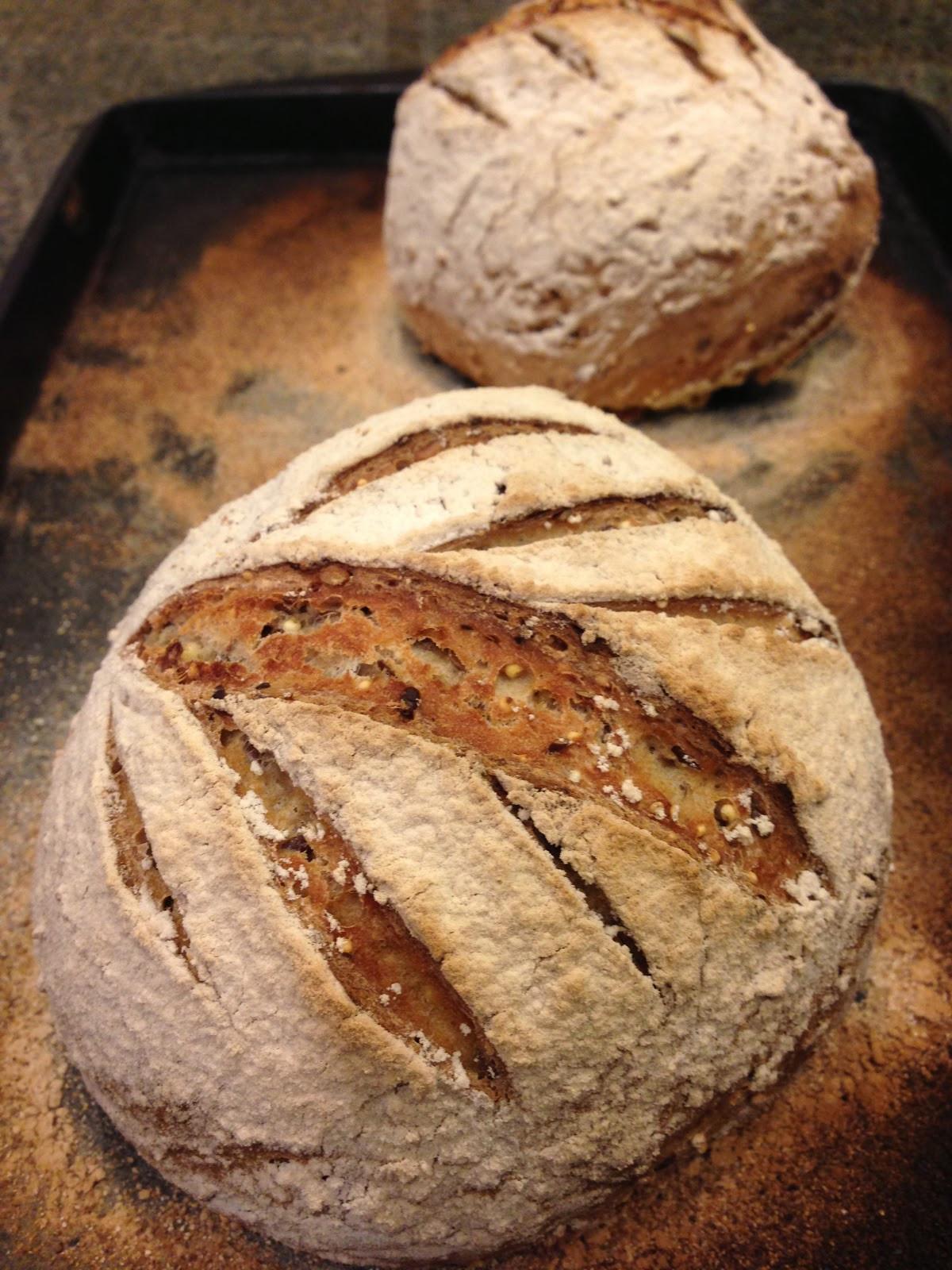 Multigrain Sourdough Bread  Flour Girl Marvelous Multigrain Sourdough Bread