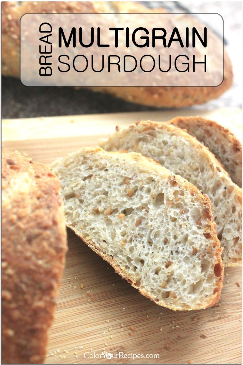 Multigrain Sourdough Bread  Hearty Multigrain Sourdough Bread Recipe • Color Your Recipes
