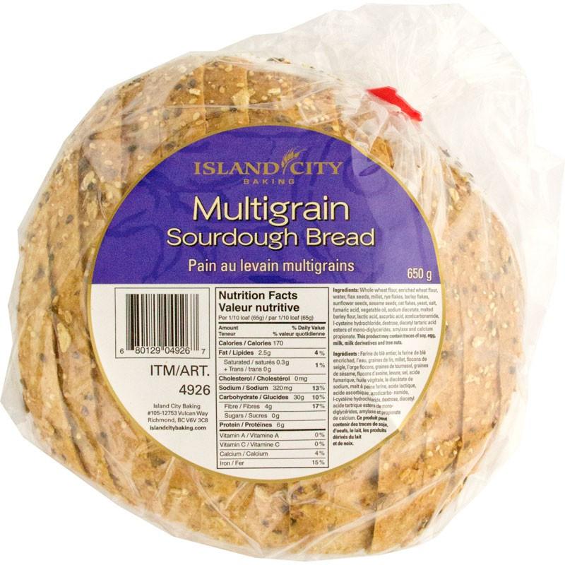 Multigrain Sourdough Bread  Island City Baking Sliced Multigrain Sourdough Bread 2 650g