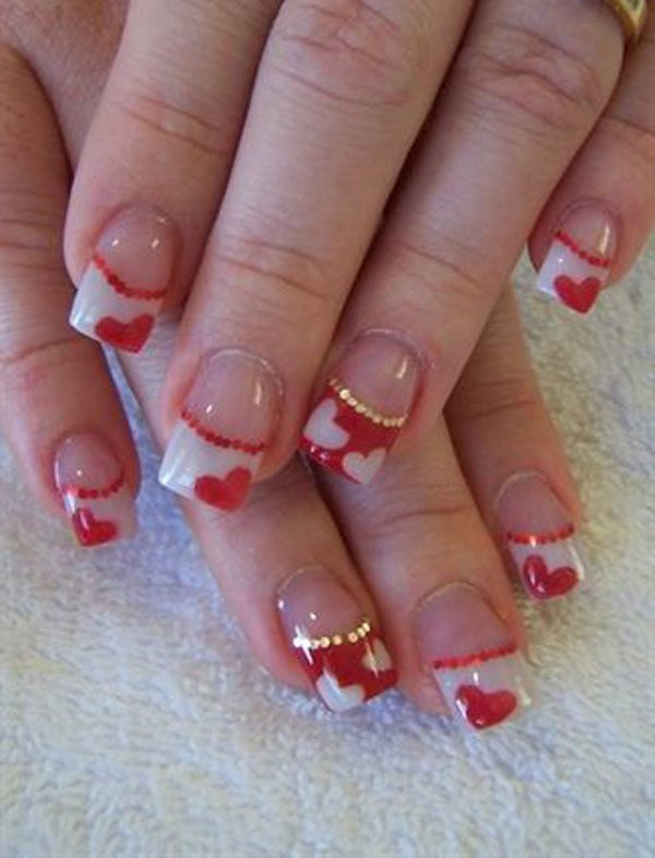 Nail Art Valentines Day Design  Collection of Valentines Day Nail Art Design Ideas