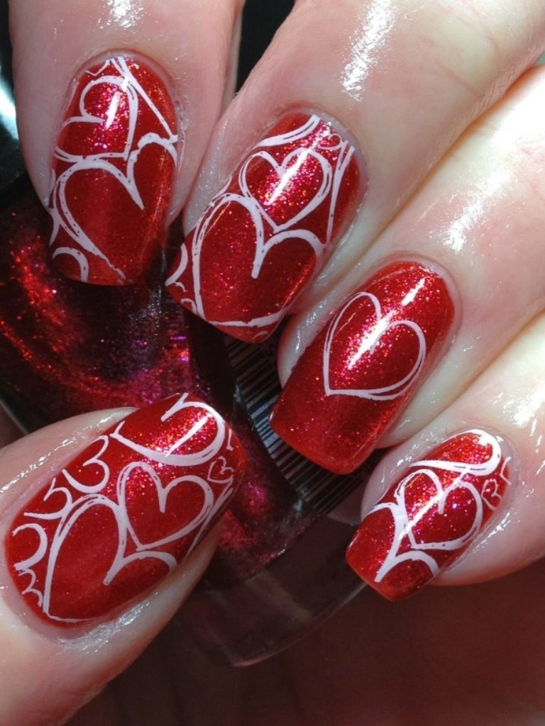 Nail Art Valentines Day Design  89 Most Fabulous Valentine s Day Nail Art Designs