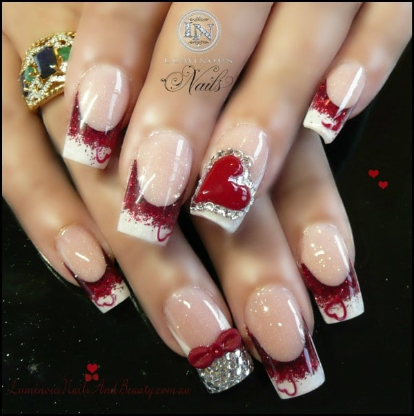 Nail Art Valentines Day Design  36 Romantic and Lovely Nail Art Design For Valentine s Day