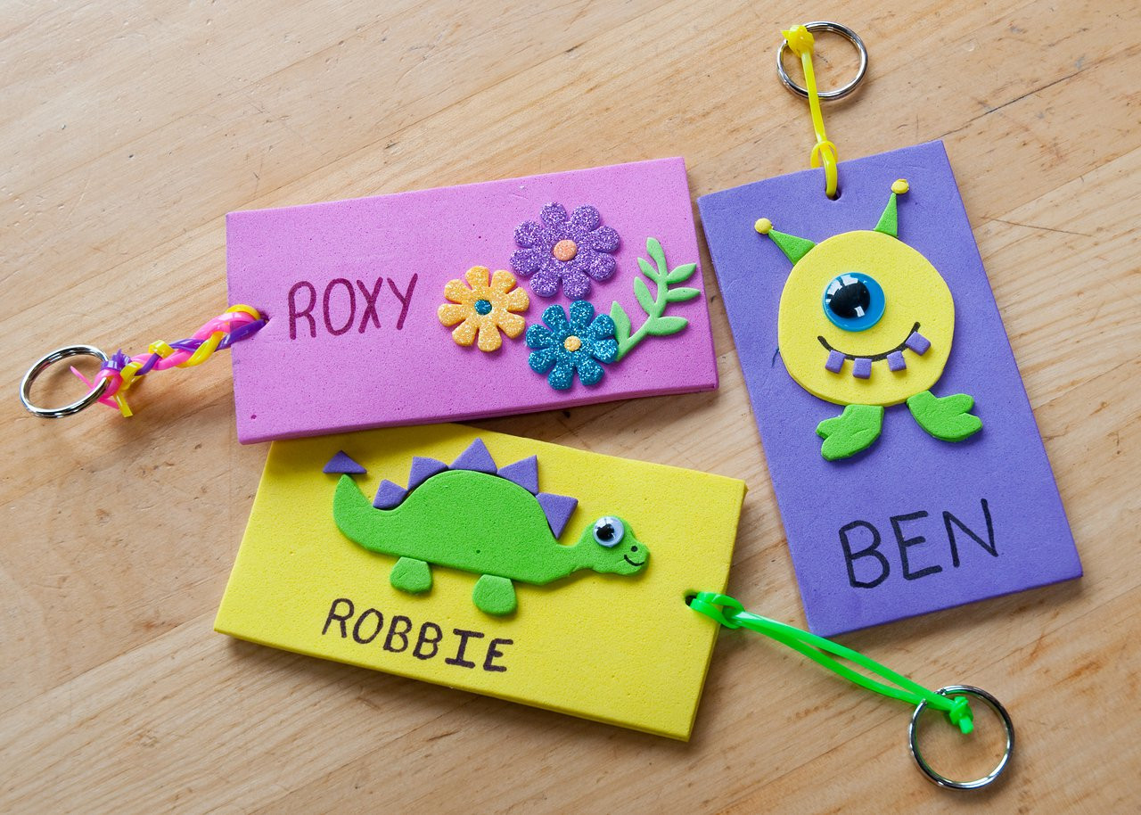 Name Crafts For Kids  Foam Name Tags
