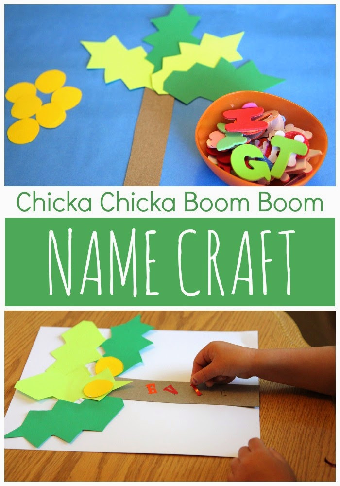 Name Crafts For Kids  Toddler Approved Chicka Chicka Boom Boom Name Craft