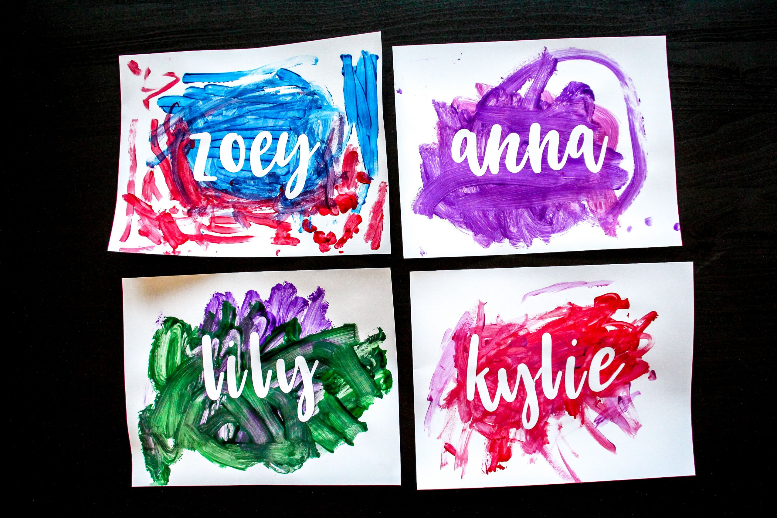 Name Crafts For Kids  Vinyl Name Painting Craft for Kids The DIY Lighthouse