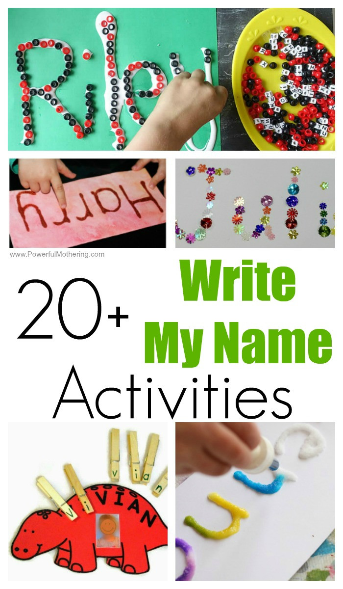 Name Crafts For Kids  20 FUN Write My Name Activities for Toddlers and Preschoolers