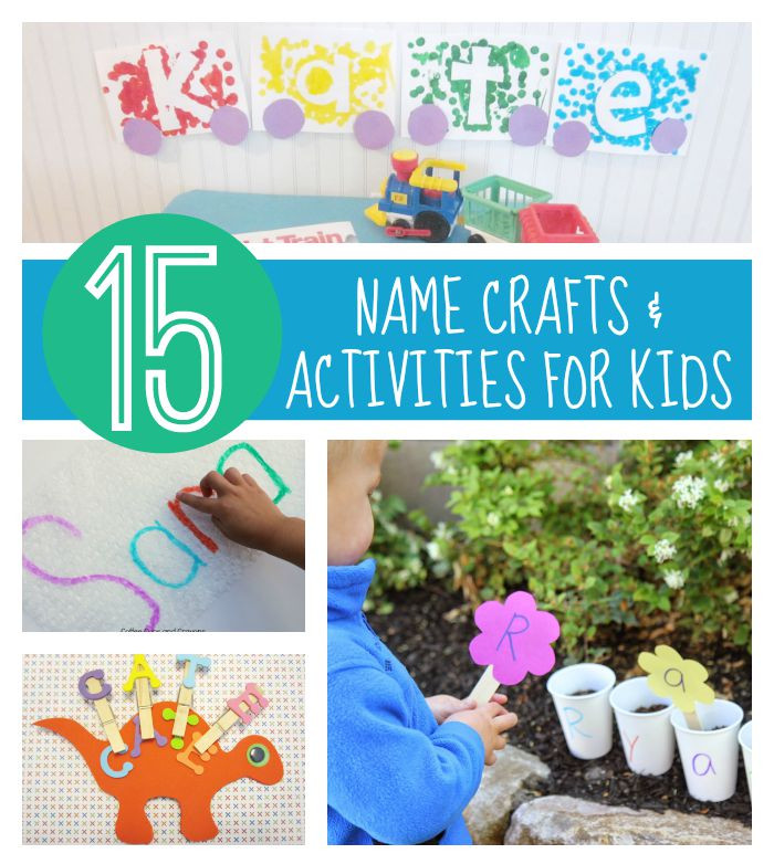 Name Crafts For Kids  Toddler Approved 15 Name Crafts and Activities for Kids