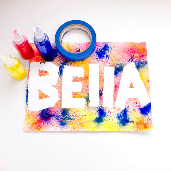 Name Crafts For Kids  Spray Paint Craft For Kids