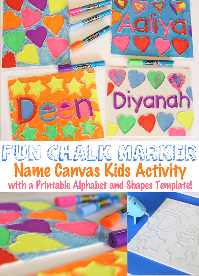 Name Crafts For Kids  Canvas Name Art Craft For Kids