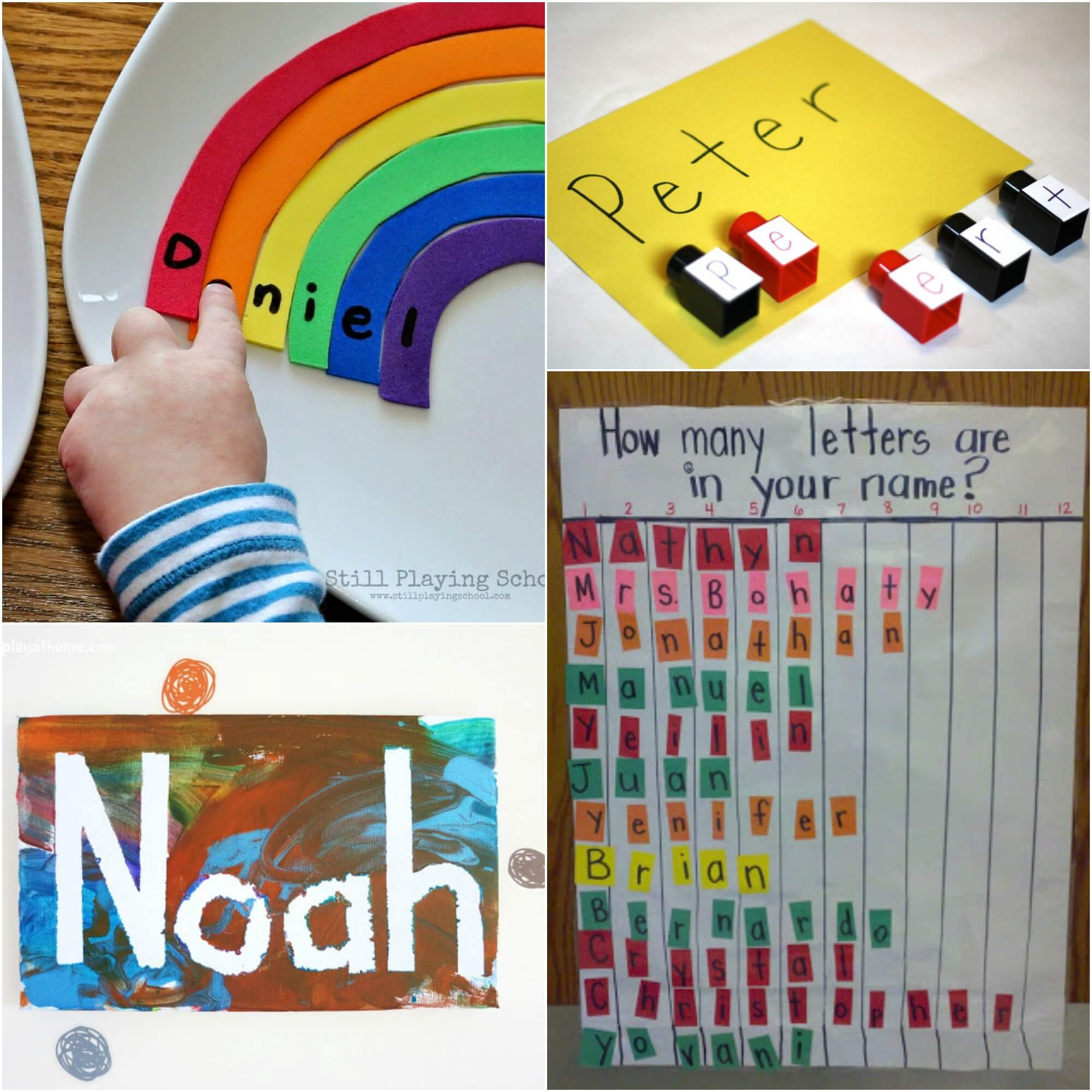 Name Crafts For Kids  25 Awesome Name Games Playdough To Plato