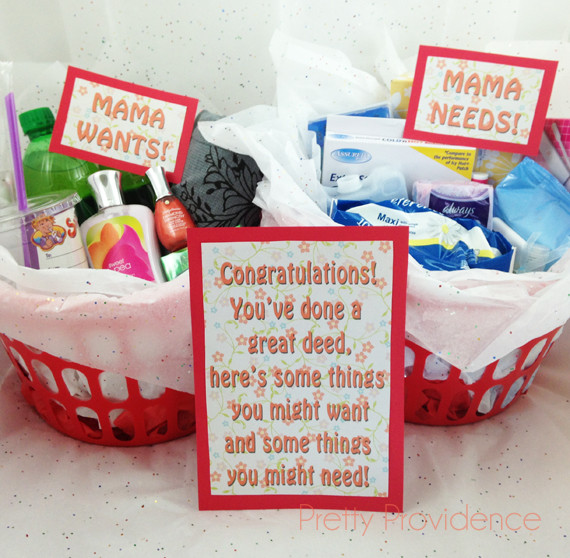 New Mother Gift Ideas  New Mom Gift Idea with Free Printables Pretty Providence