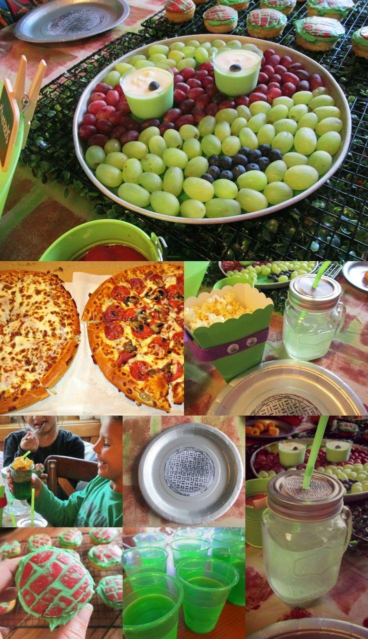Ninja Turtle Birthday Party Food Ideas  106 best Ninja turtle Party images on Pinterest