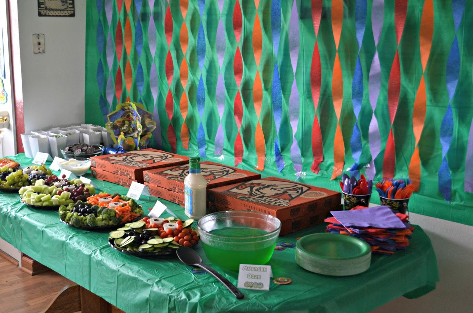 Ninja Turtle Birthday Party Food Ideas  Teenage Mutant Ninja Turtle Birthday Party