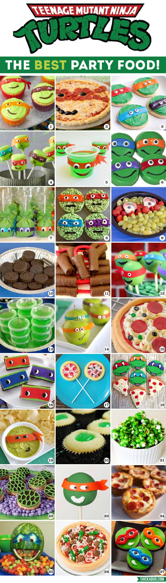 Ninja Turtle Birthday Party Food Ideas  The Best TMNT Party Food
