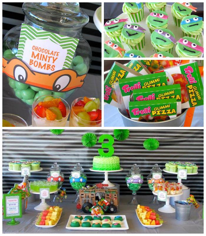 Ninja Turtle Birthday Party Food Ideas  Kara s Party Ideas Teenage Mutant Ninja Turtles Themed