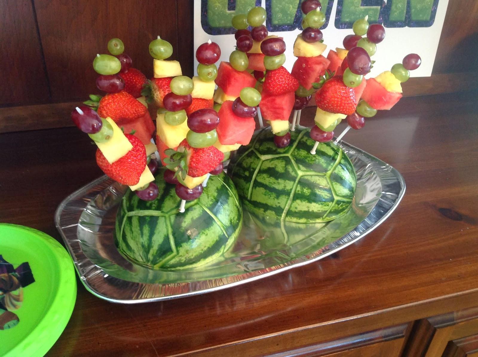 Ninja Turtle Birthday Party Food Ideas  my back pages owen s 4th teenage mutant ninja turtle
