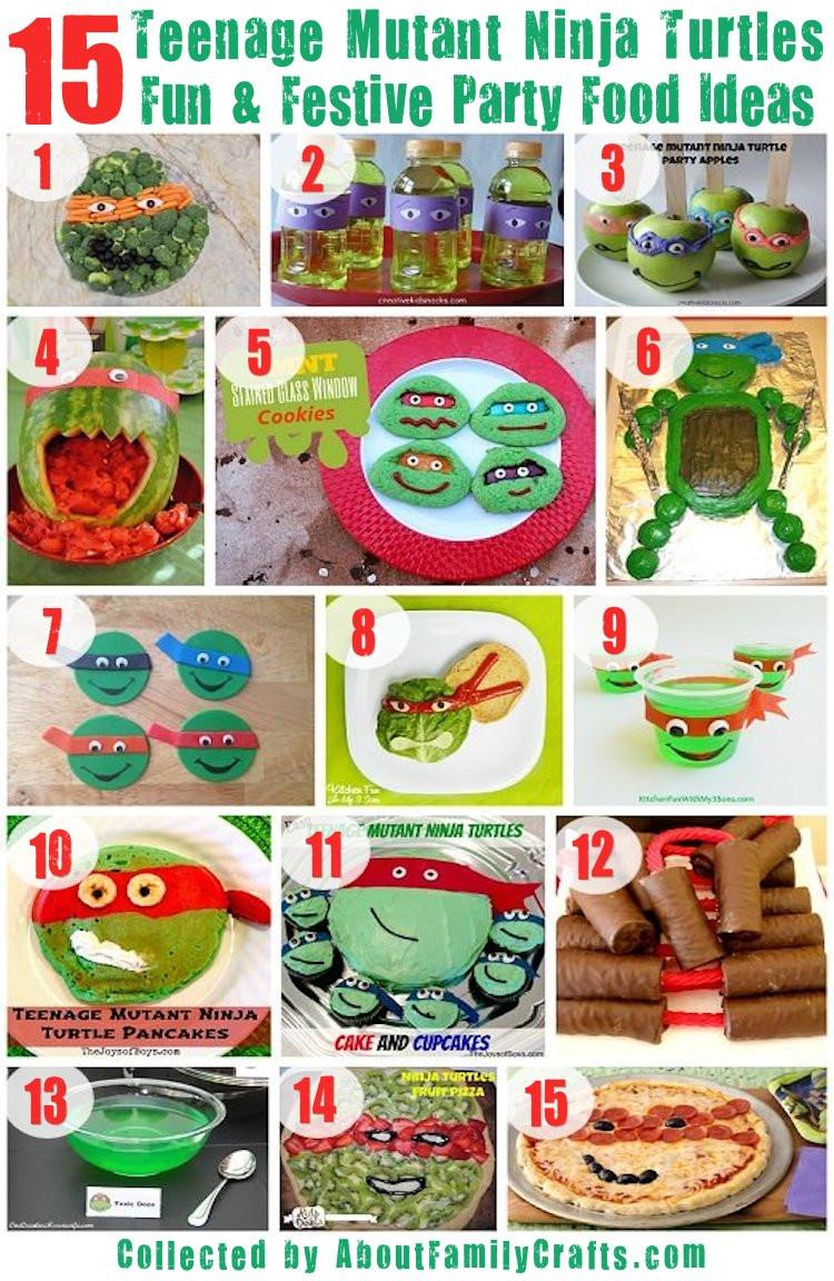 Ninja Turtle Birthday Party Food Ideas  75 DIY Teenage Mutant Ninja Turtles Birthday Party Ideas