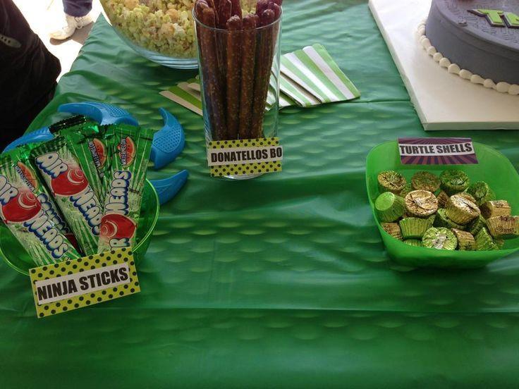 Ninja Turtle Birthday Party Food Ideas  ninja turtle birthday party ideas