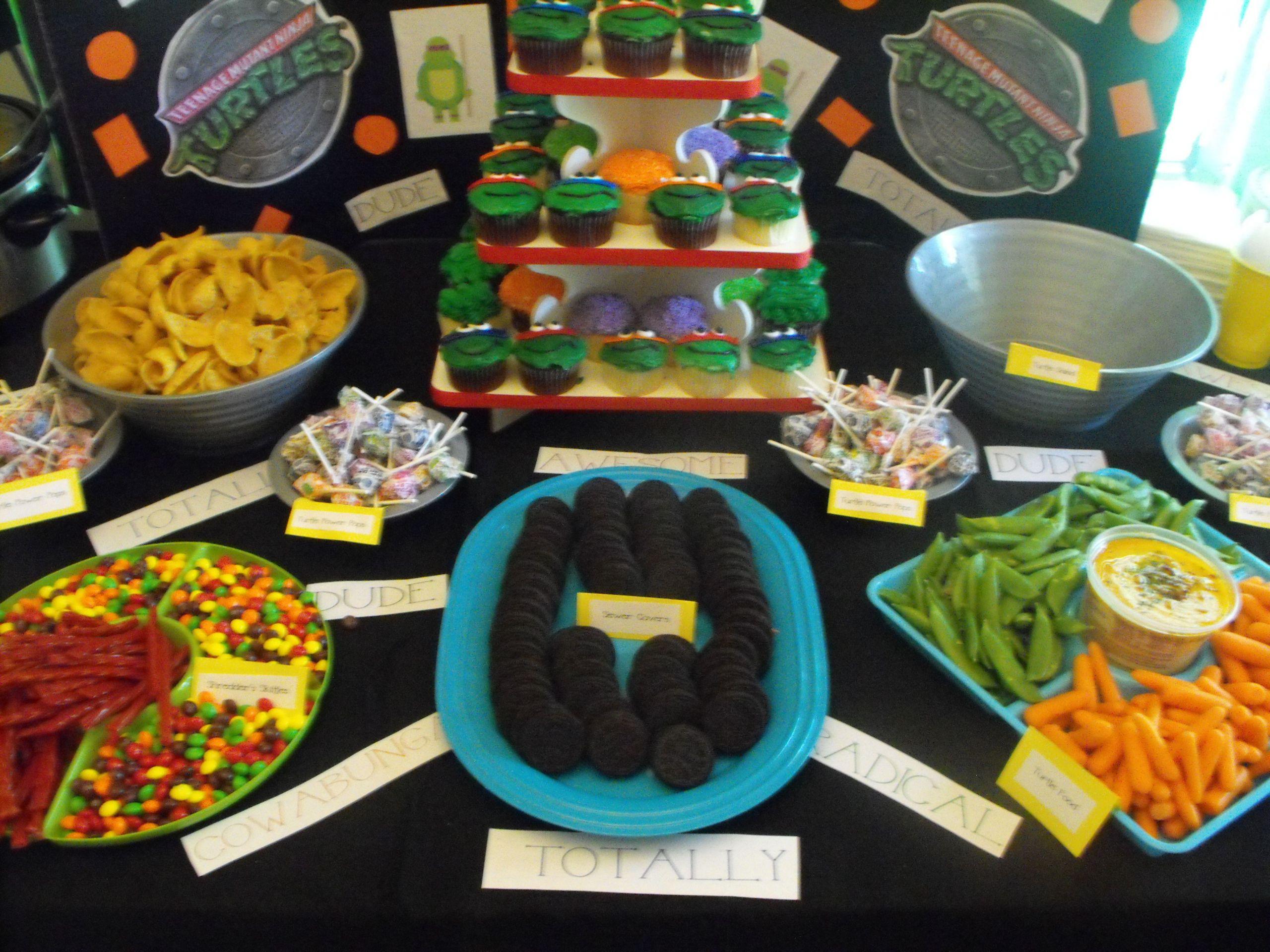 Ninja Turtle Birthday Party Food Ideas  Ninja Turtle Party Food