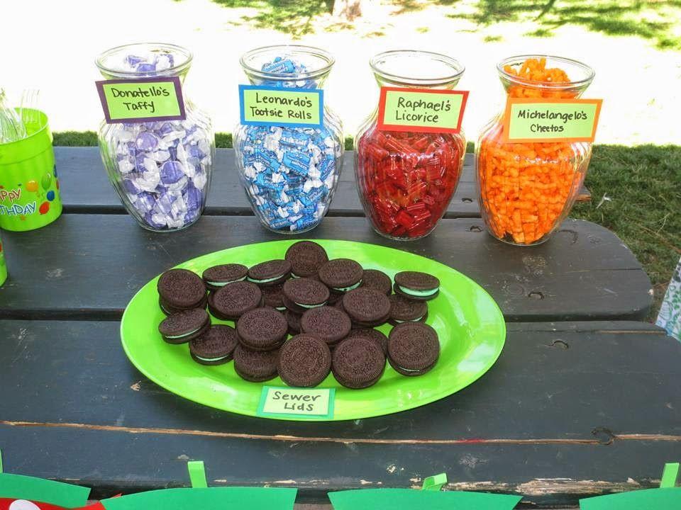 Ninja Turtle Birthday Party Food Ideas  Ninja turtle party food …