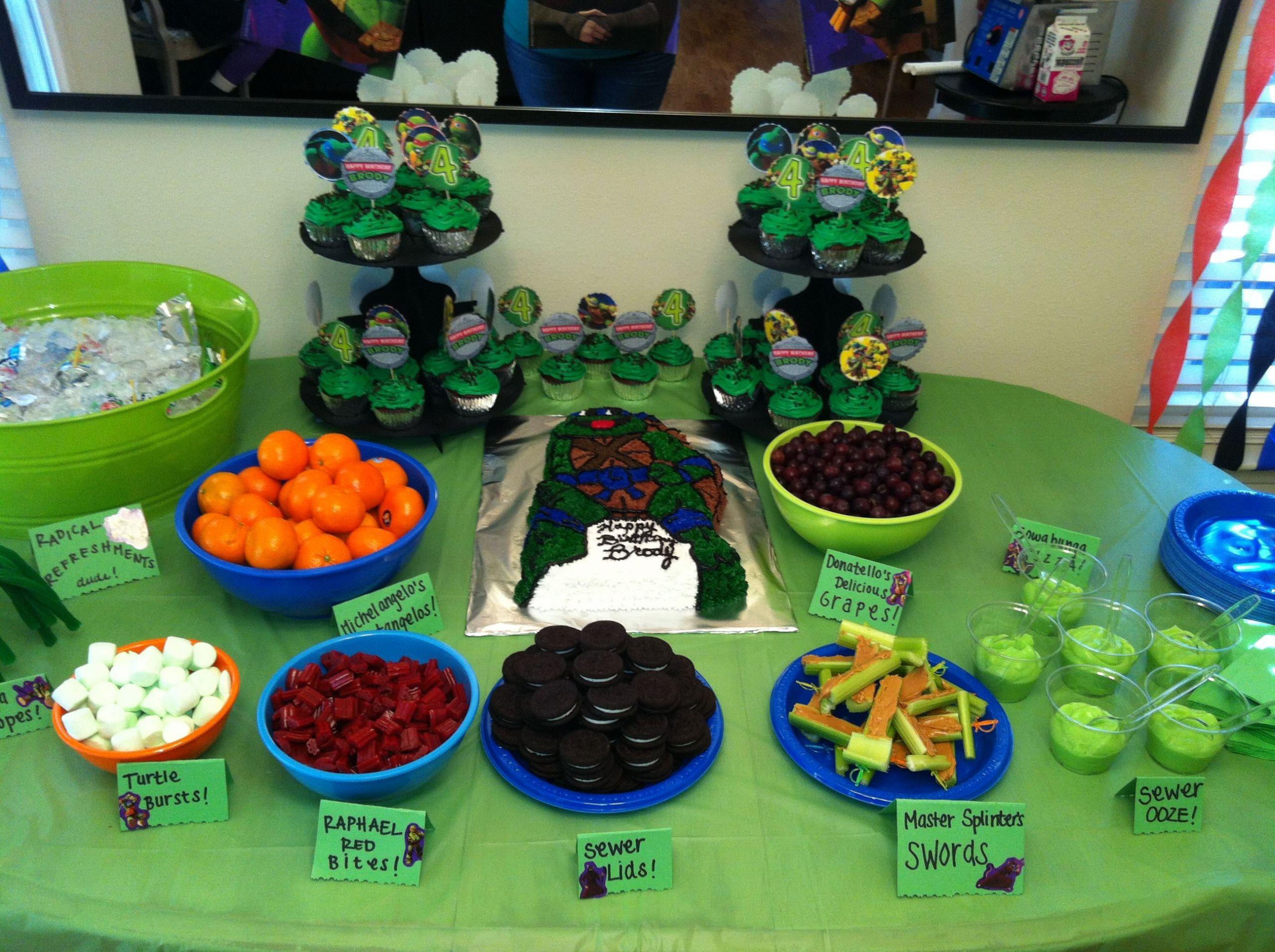 Ninja Turtle Birthday Party Food Ideas  Antifaz Tortugas Ninja Para Imprimir