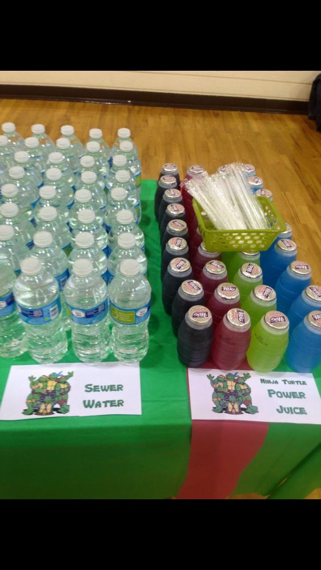 Ninja Turtle Birthday Party Food Ideas  Ninja Turtle Birthday Party decorations food and games