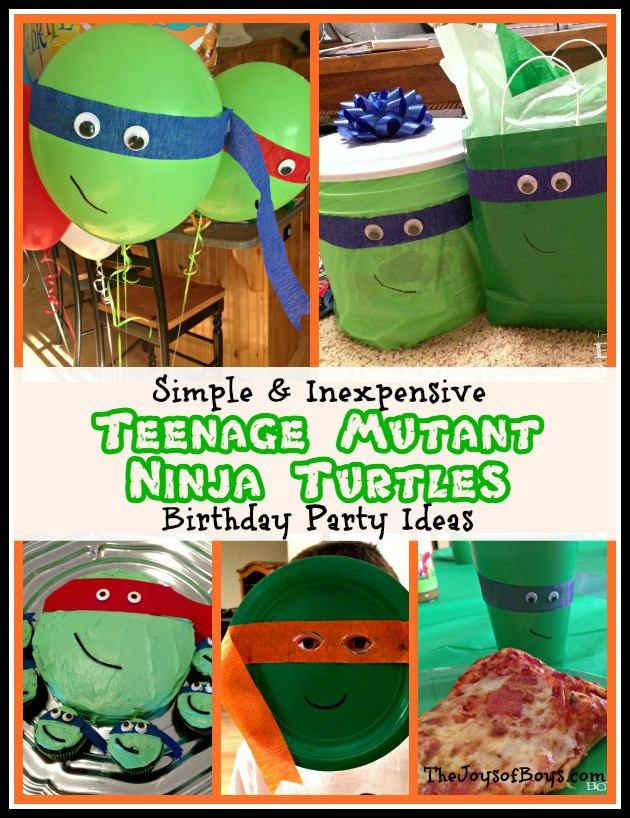 Ninja Turtle Birthday Party Food Ideas  Teenage Mutant Ninja Turtles Food The Joys of Boys