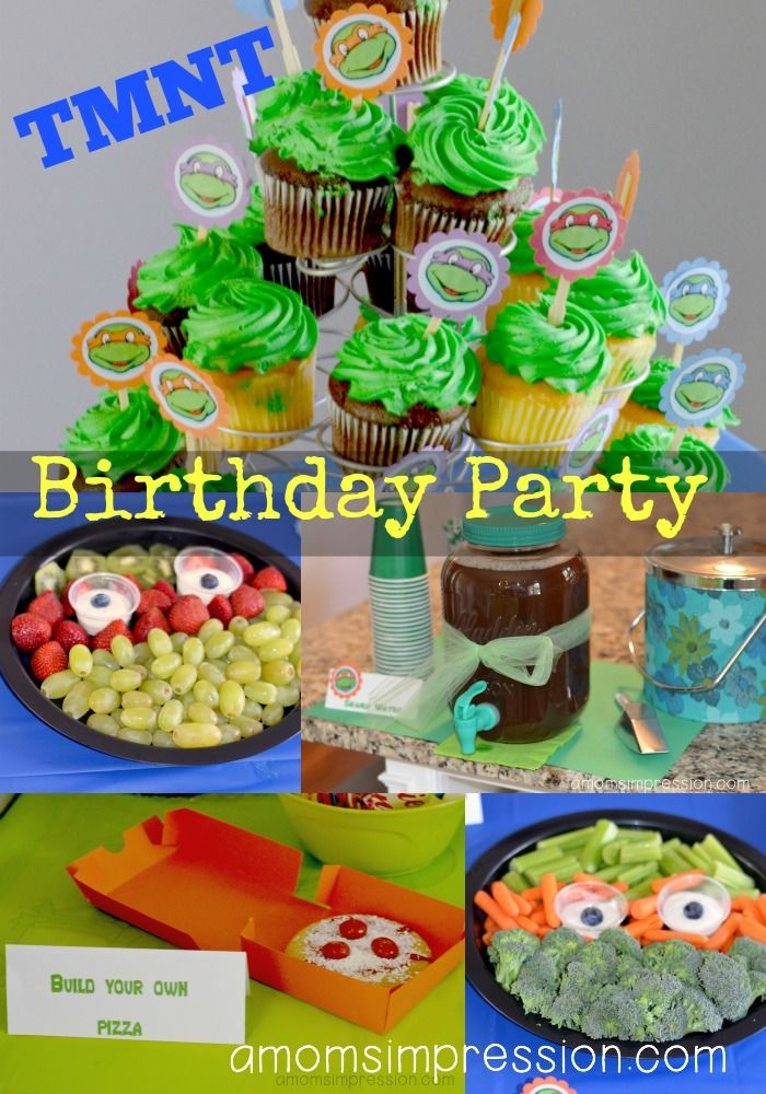 Ninja Turtle Birthday Party Food Ideas  Teenage Mutant Ninja Turtles Birthday Party Part 2 The