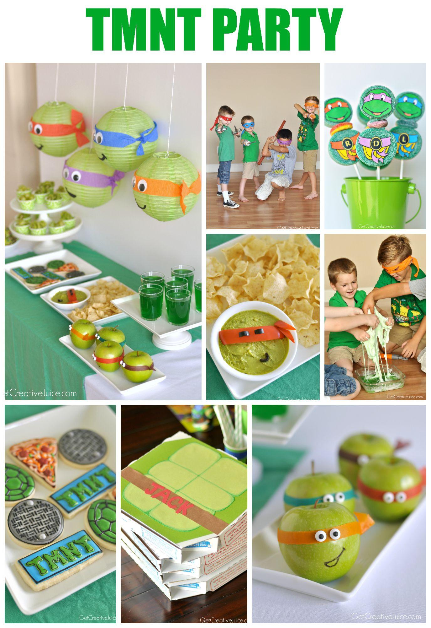 Ninja Turtle Birthday Party Food Ideas  TMNT Party Ideas