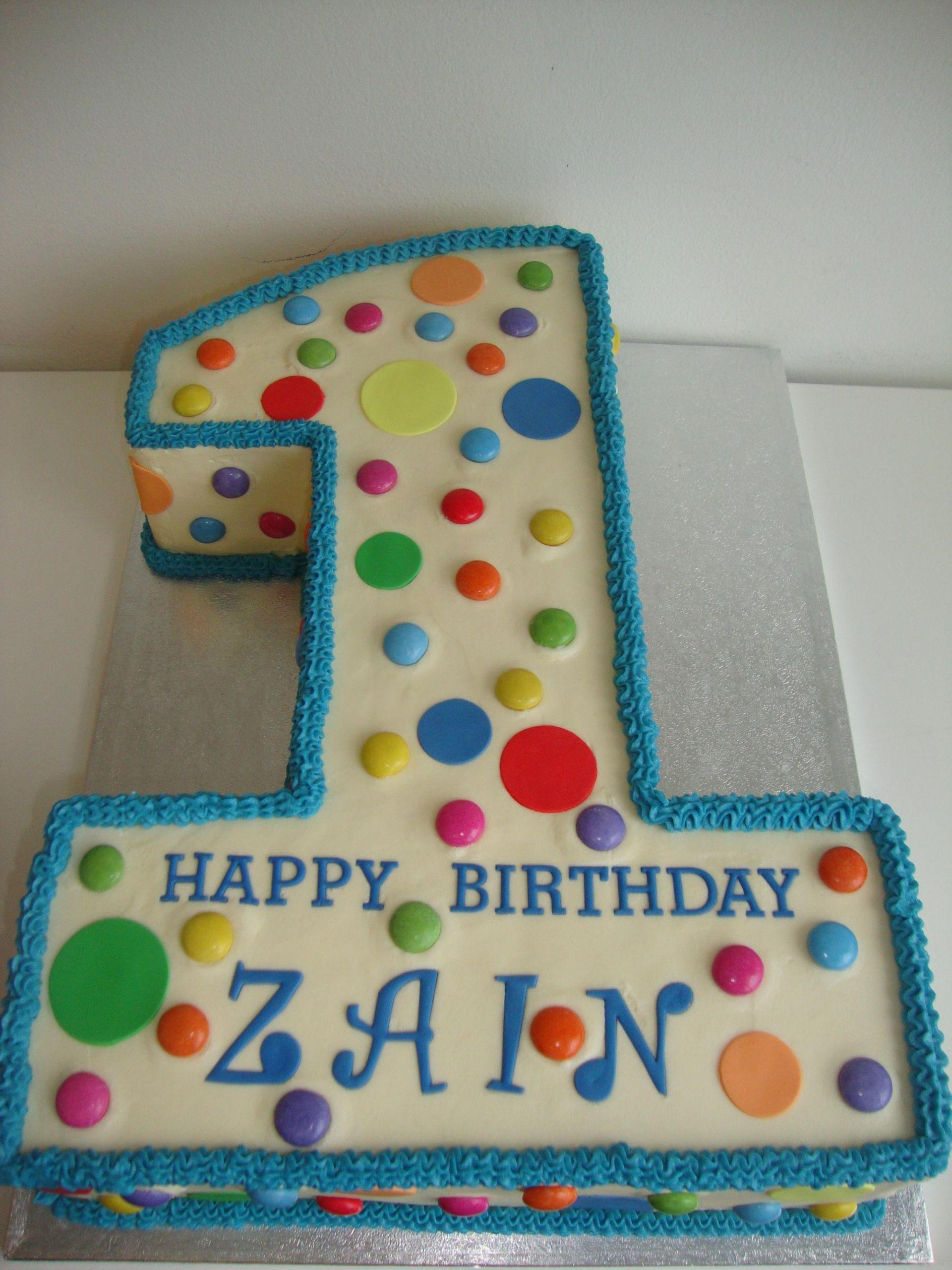 Number 1 Birthday Cake  Polka Dot Number 1 Cake Celebration Cakes Cakeology