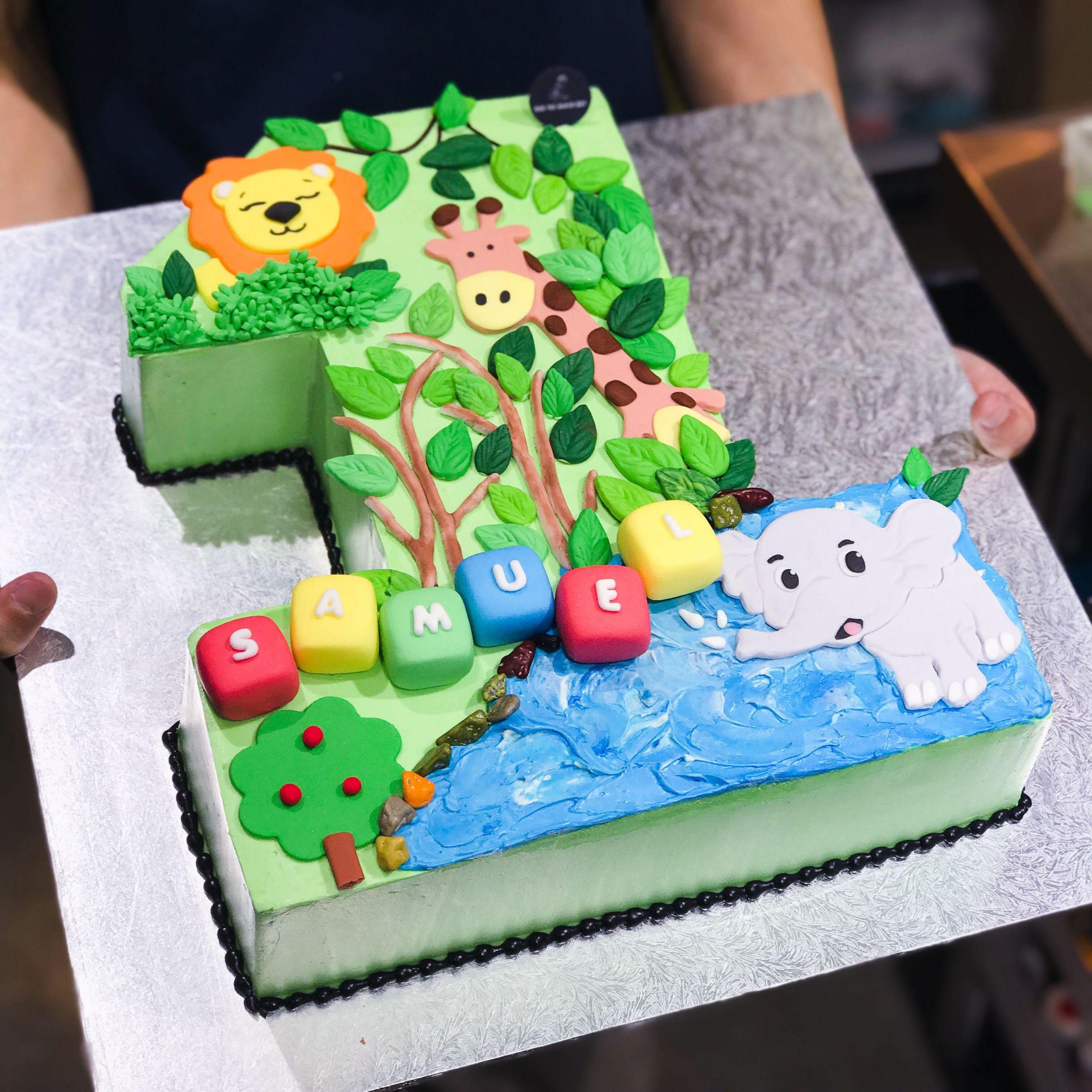 Number 1 Birthday Cake  Animal Cakes Number 1 Cakes Customised Cakes Kids