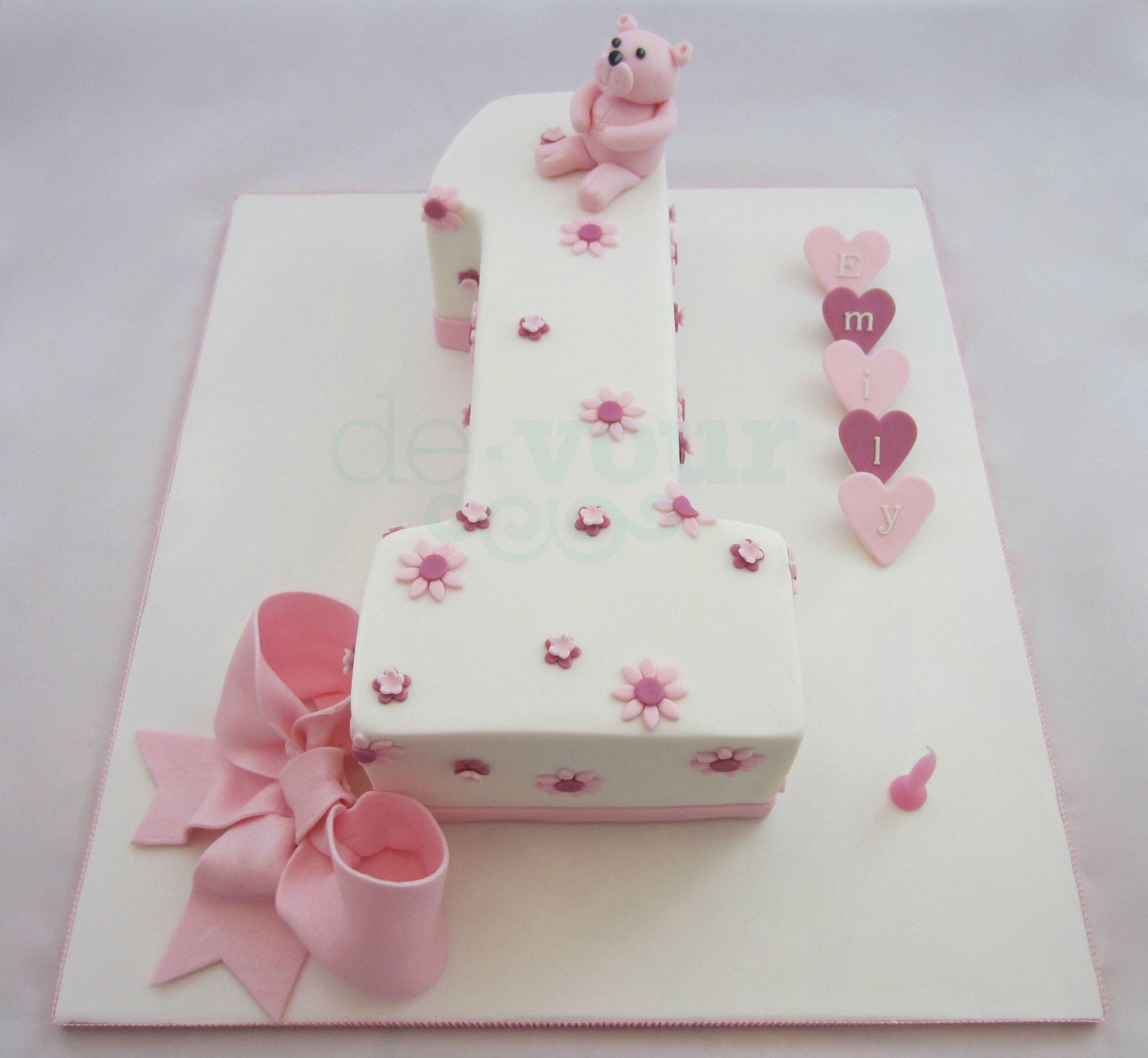 Number 1 Birthday Cake  Number 1 cake first birthday cake number one cake girl