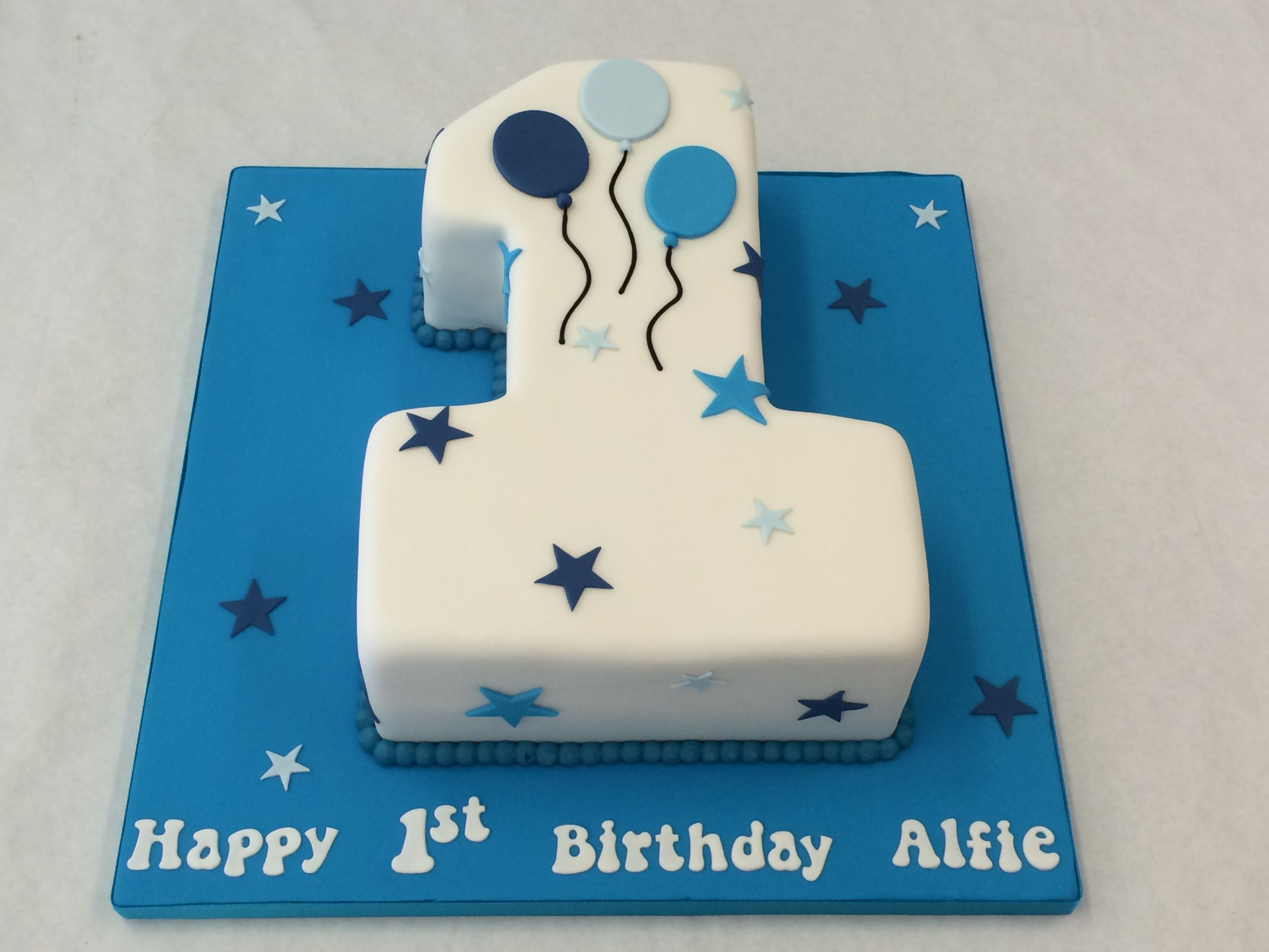Number 1 Birthday Cake  Small Number e Cake with Balloons Children s Birthday