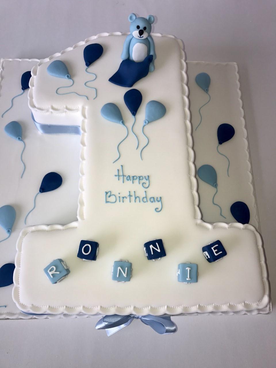 Number 1 Birthday Cake  Boys Number 1 – Ann s Designer Cakes