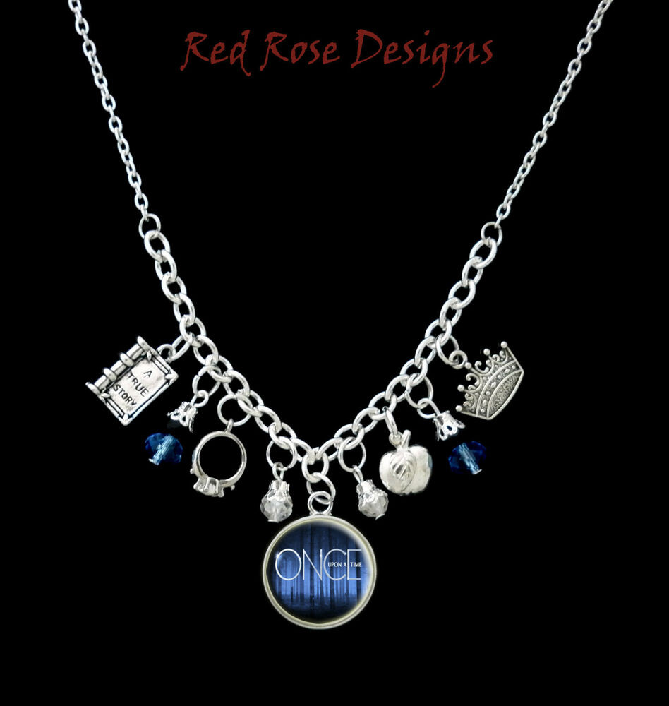 Once Upon A Time Necklace  ONCE UPON A TIME THEMED STATEMENT CHARM NECKLACE