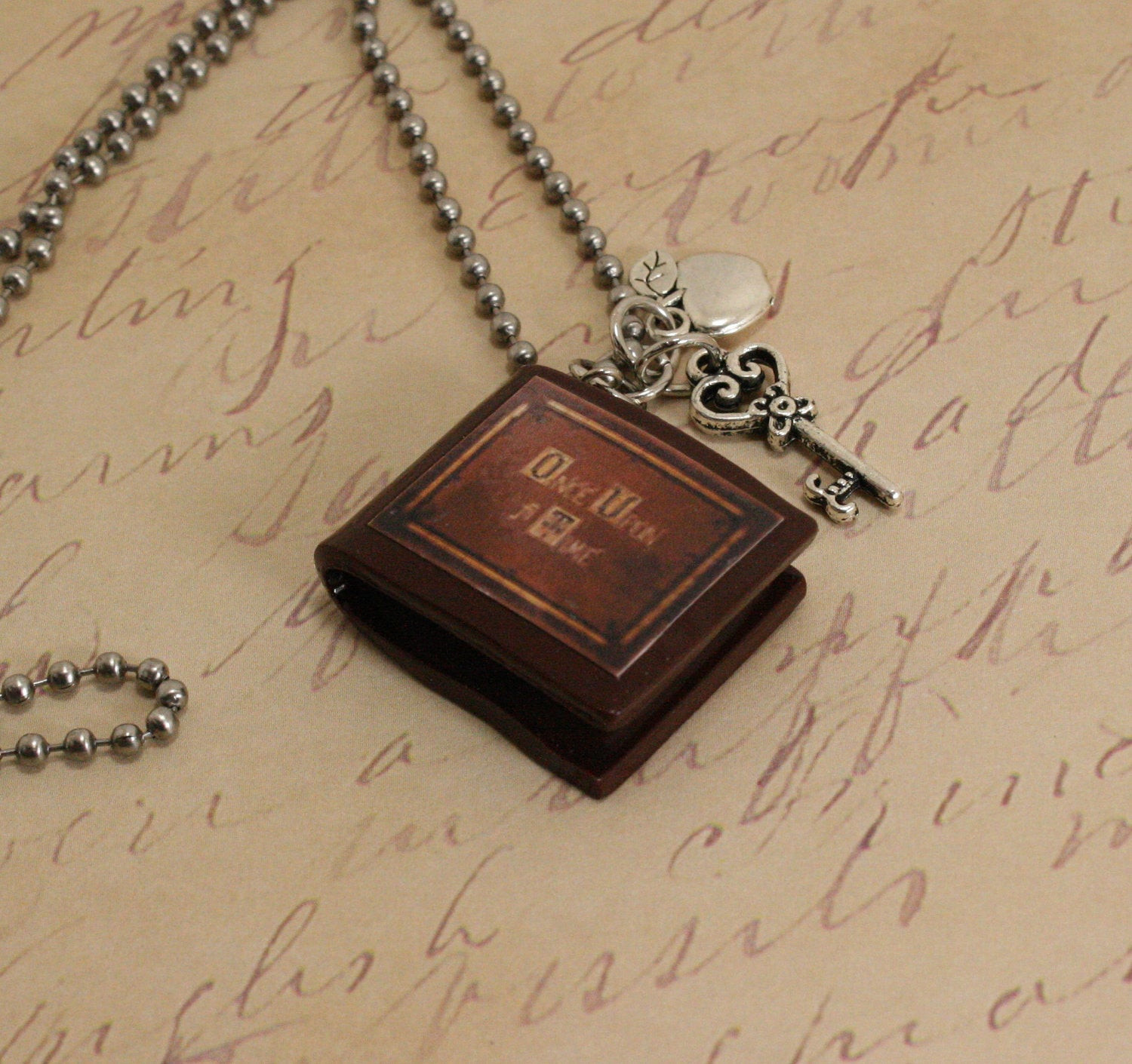 Once Upon A Time Necklace  SALE ce Upon A Time Necklace Henry s Book V1 by