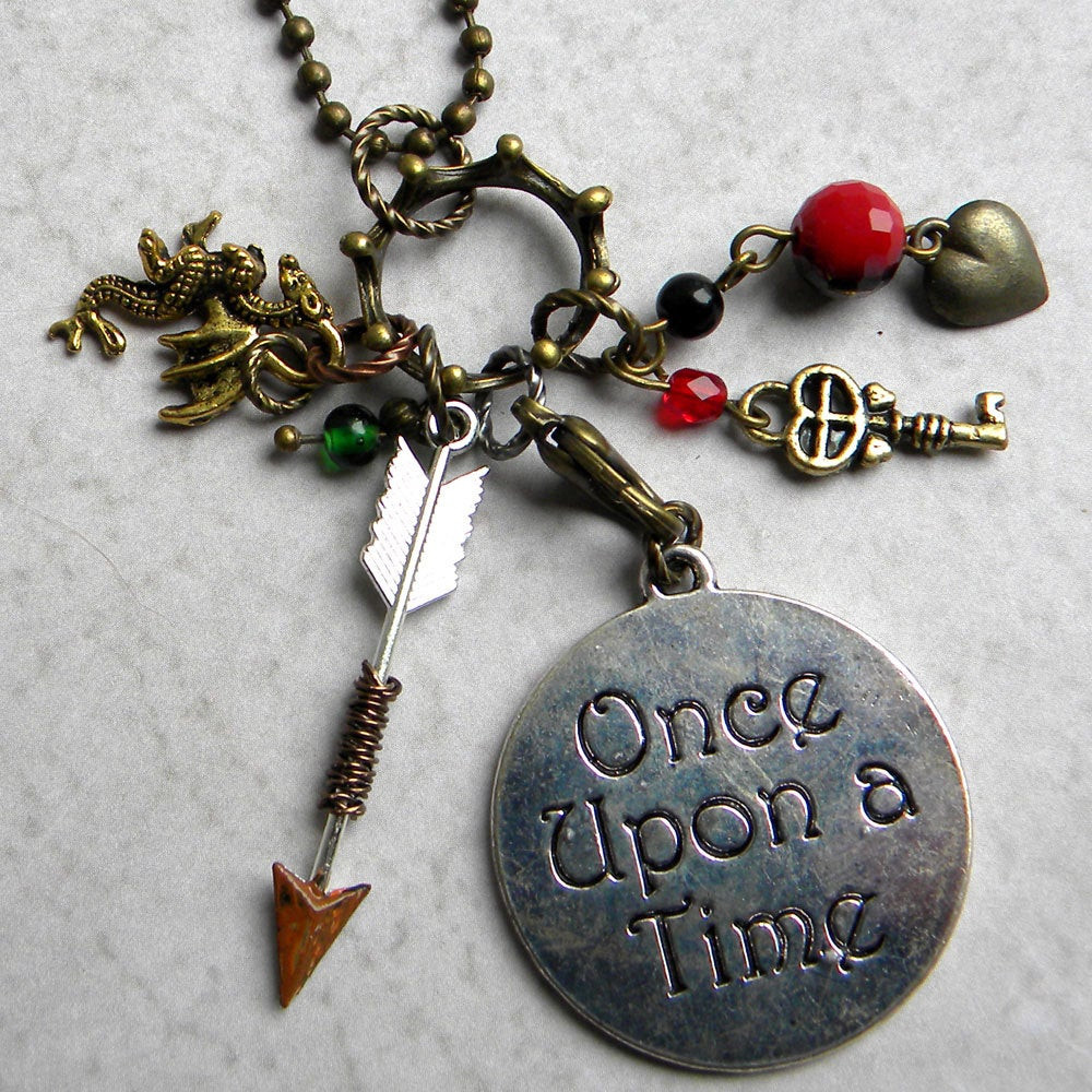 Once Upon A Time Necklace  ce Upon A Time Necklace Happily Ever After Necklace