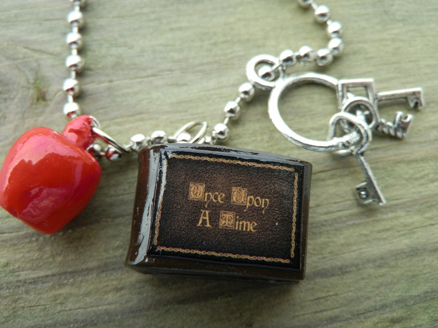 Once Upon A Time Necklace  ce Upon A Time Necklace Henry s Book The Poison Apple