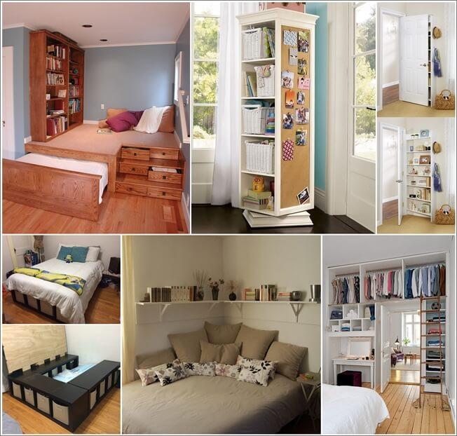 Organization Ideas For Bedroom  Storage Ideas for a Small Bedroom FancyDiyArt