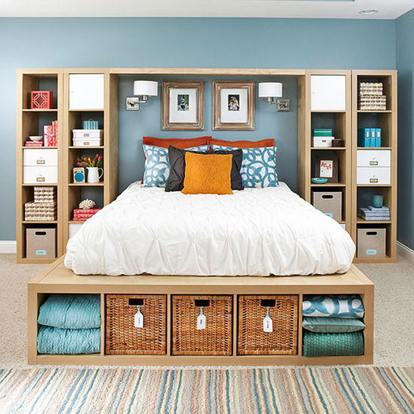 Organization Ideas For Bedroom  25 Creative Ideas for Bedroom Storage Hative