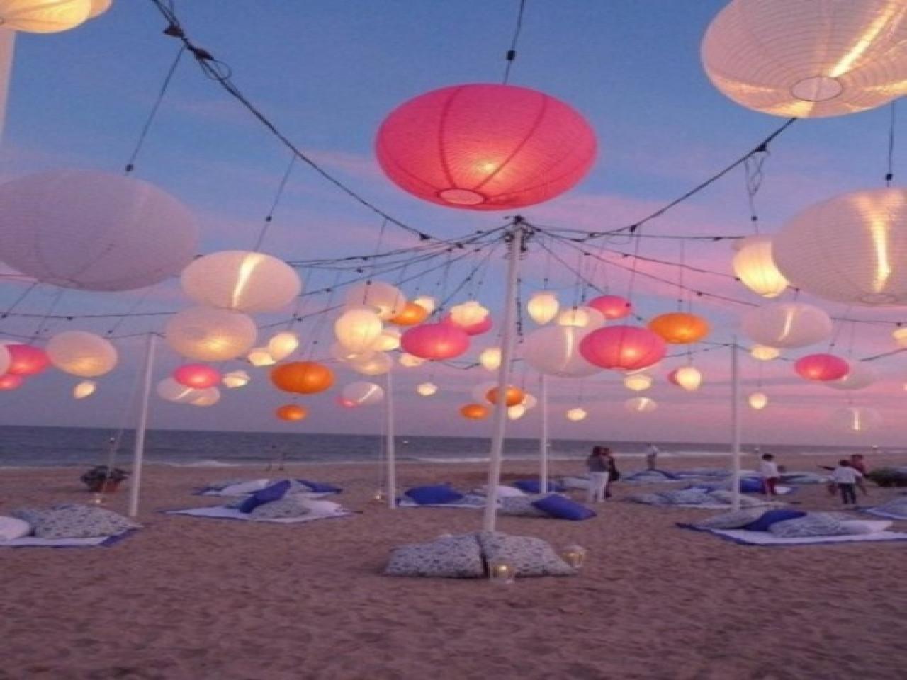 Outdoor Beach Party Ideas  Dinner table centerpieces photos cool summer party ideas