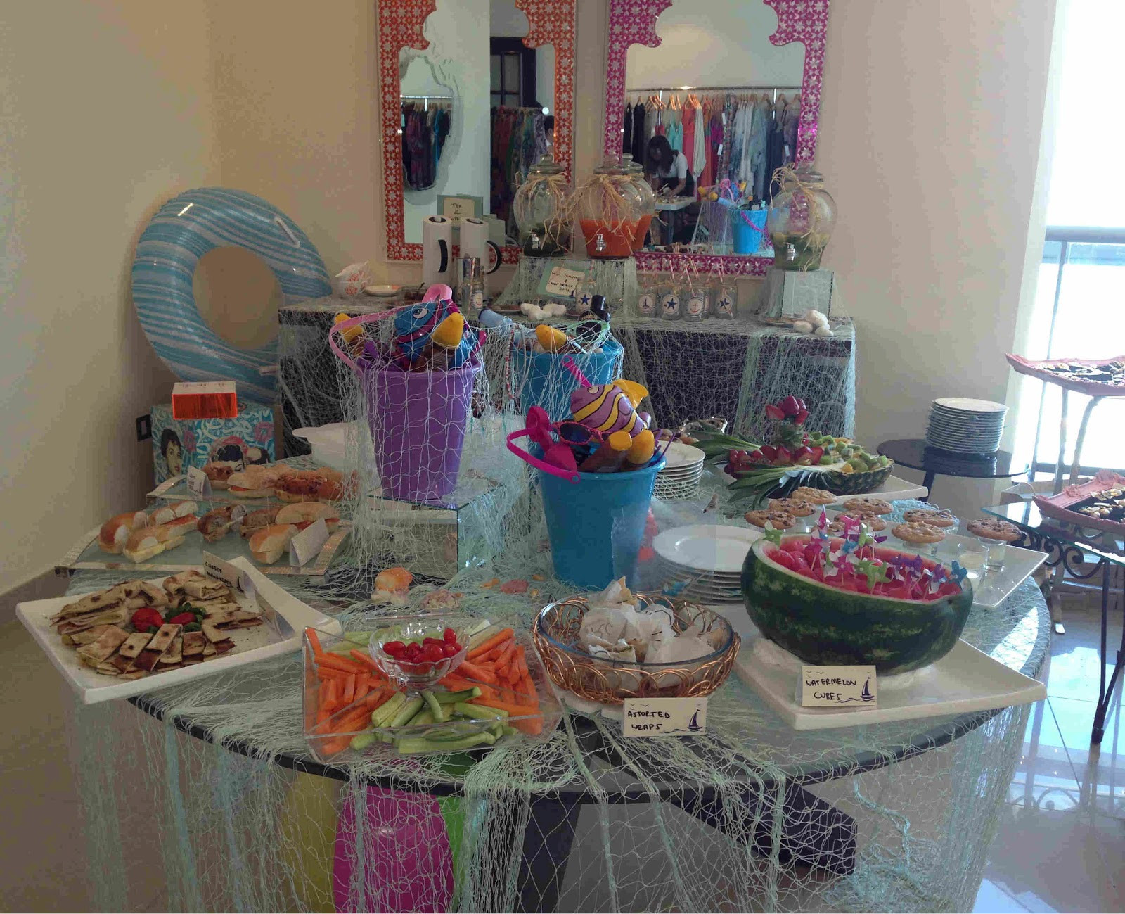 Outdoor Beach Party Ideas  My Small Obsessions An Indoor themed Beach Party