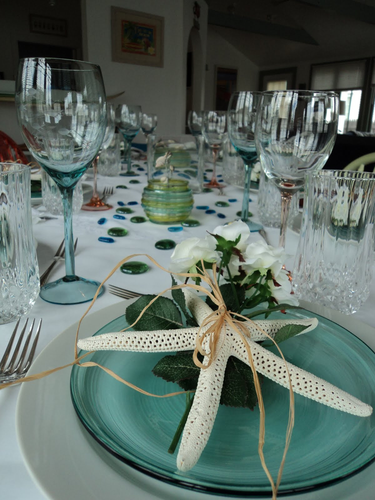 Outdoor Beach Party Ideas  The Fine Living Muse Beach and garden themed party