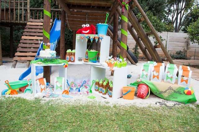 Outdoor Beach Party Ideas  Beach bathroom ideas back yard beach birthday party ideas