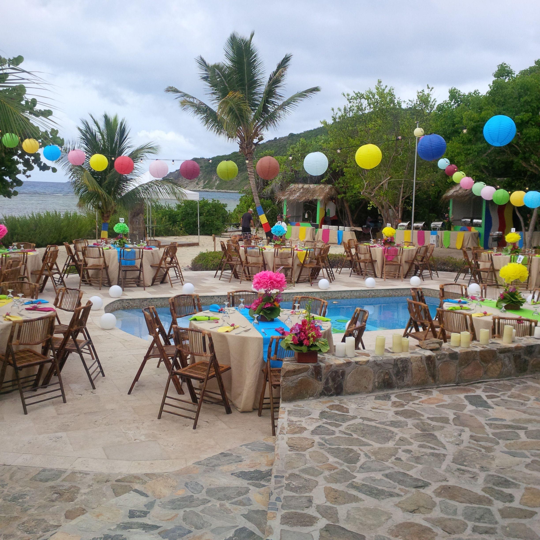 Outdoor Beach Party Ideas  outdoor beach party on Scrub Island Resort British Virgin