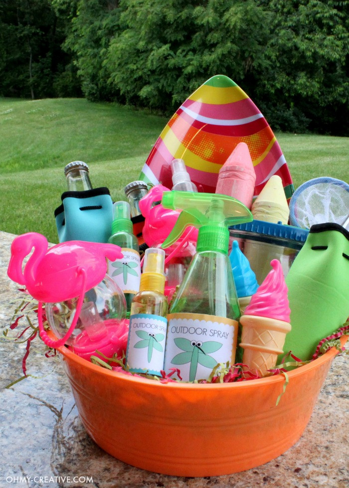 Outdoor Beach Party Ideas  Summer Party Gift Basket Oh My Creative